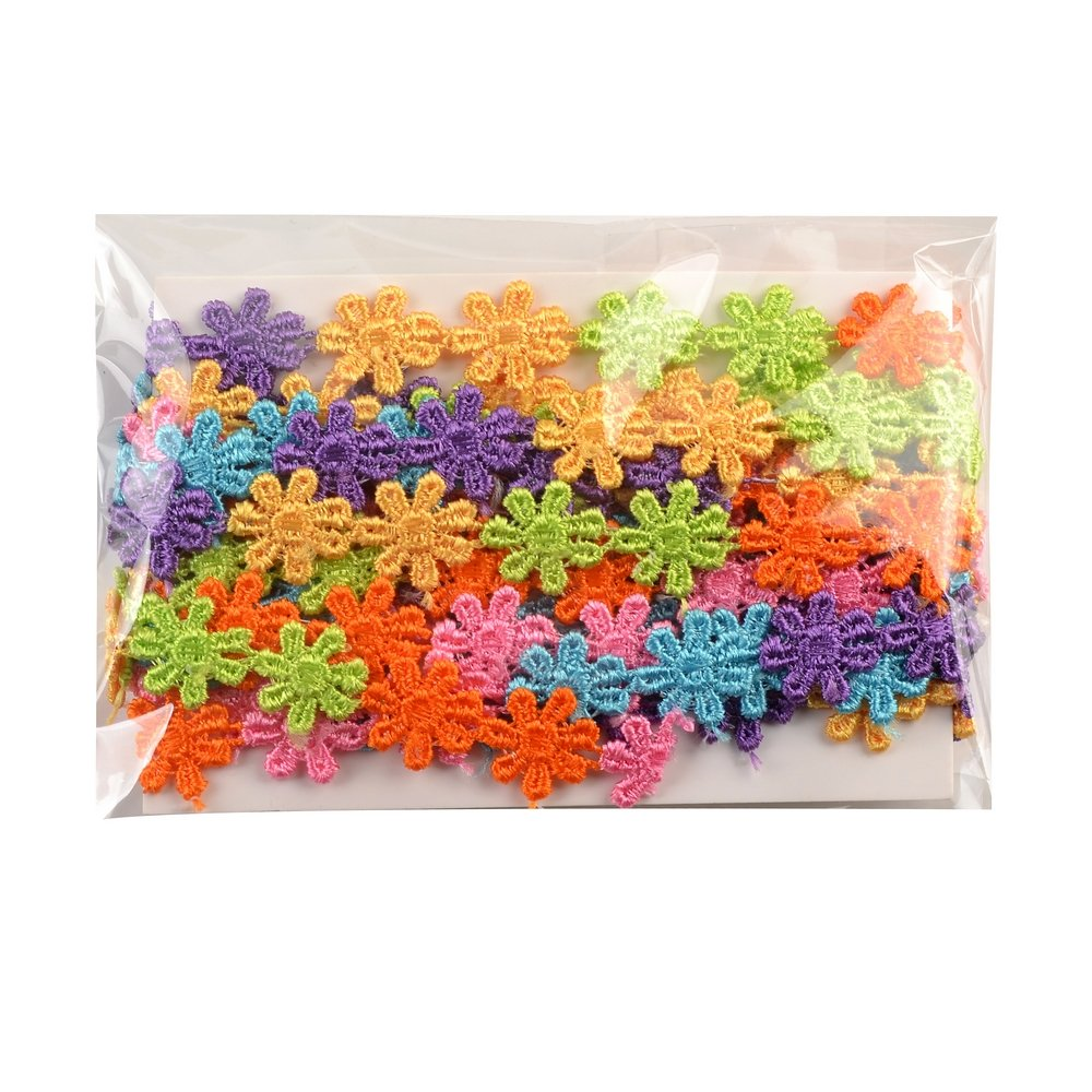 eZthings Designer Decorating Lace and Trims for Sewing and Craft Projects 3 Yard, Double Flower