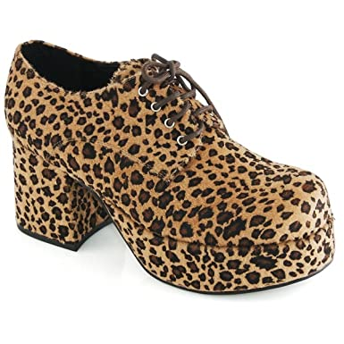 612294f8eee40 Amazon.com: Pimp Adult Costume Shoes Leopard Print - Large: Clothing