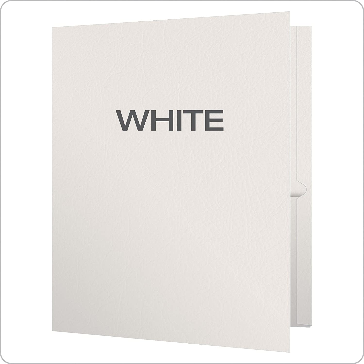 Oxford Twin-Pocket Folders Letter Size Textured Paper Box of 25 57504EE - 1 Holds 100 Sheets White