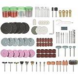 """KKmoon 136PCS 1/8 """"Shank Rotary Tool Accessoires Set Sanding Polishing Grinding Bit d'accessoire de coupe pour Dremel Grinder"""