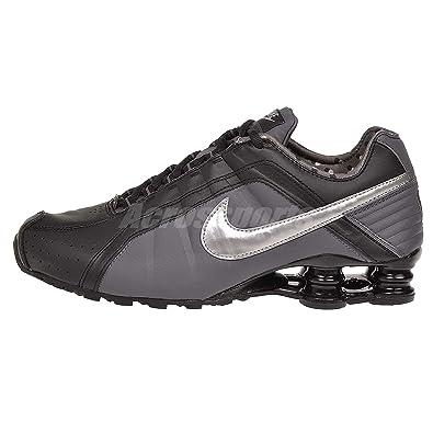 Nike Womens Shox Junior Black/Metallic Silver Running Shoe 5 B(M) US