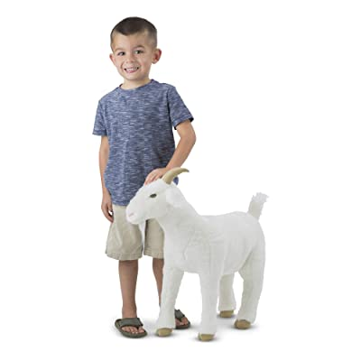 Melissa & Doug Giant Goat - Lifelike Stuffed Animal (22.5 inches Tall): Toys & Games