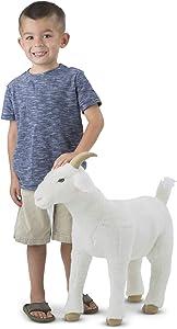 Melissa & Doug Giant Goat - Lifelike Stuffed Animal (22.5 inches Tall)