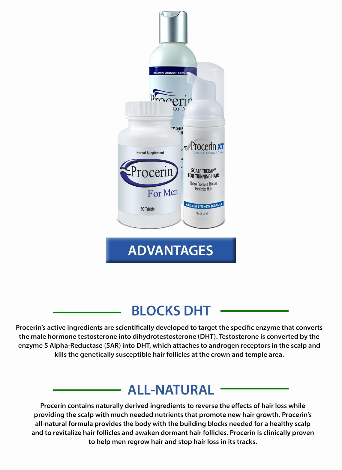 Procerin Hair Loss System: 5 Month Tablets/Foam and 2 Shampoo by Procerin (Image #3)