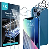 [ 3+3 Pack] LK 3Pack Screen Protector Compatible for iPhone 13 6.1-inch with 3Pack Camera Lens Protector, Anti-Scratch Easy-I
