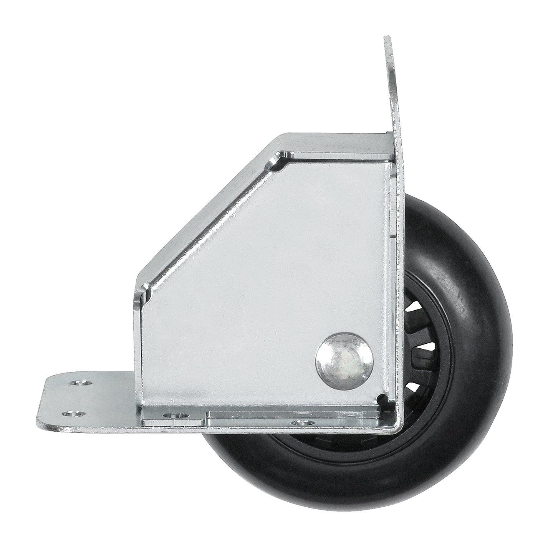 Reliable Hardware Company RH 9024 A Recessed Tilt Caster Housing Medium Size 2.75 Inch Diameter Wheel Zinc