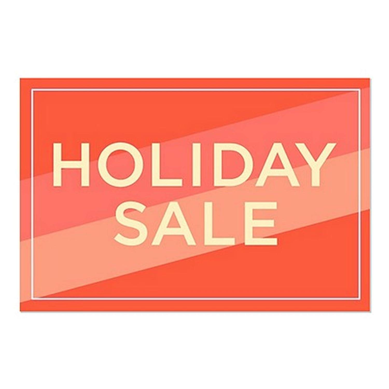 CGSignLab Holiday Sale 36x24 Modern Diagonal Window Cling