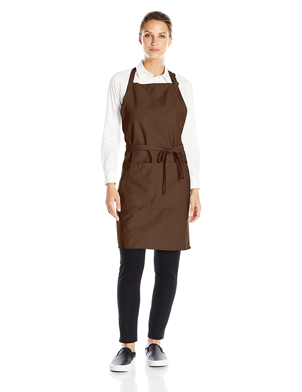 Uncommon Threads Women's ADJ Butcher Apron 2 Section Pocket Black One Size 3018-0100
