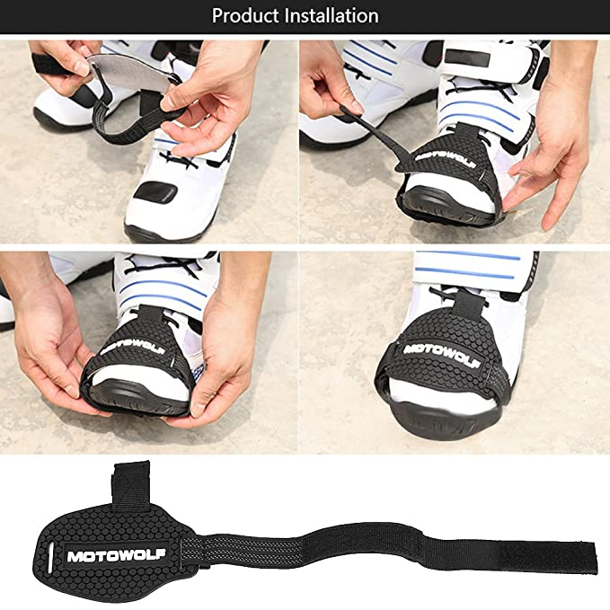 Acouto Motorcycle Protective Gear Shift Pad Shoes Boots Scuff Protector Shifter Guards Boot