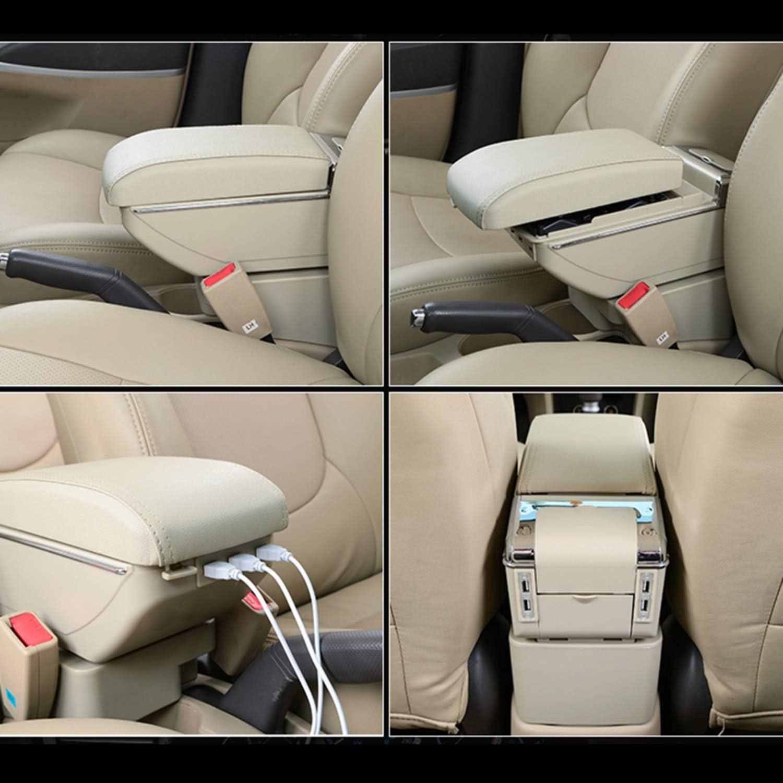 F/ür Touran L High-end Auto Armlehne Mittelarmlehne mittelkonsole Zubeh/ör Ladefunktion Mit 7 USB-Ports Eingebaute LED-Licht Schwarz