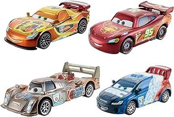 Mattel Cars - Pack 4 Coches de Carreras Neon: Amazon.es: Juguetes ...