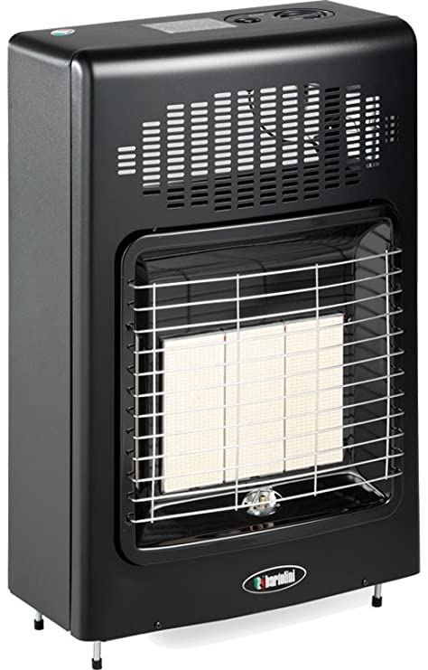Estufa a Gas Metano Bartolini GPL Black pared o suelo 4200 W 120 m3