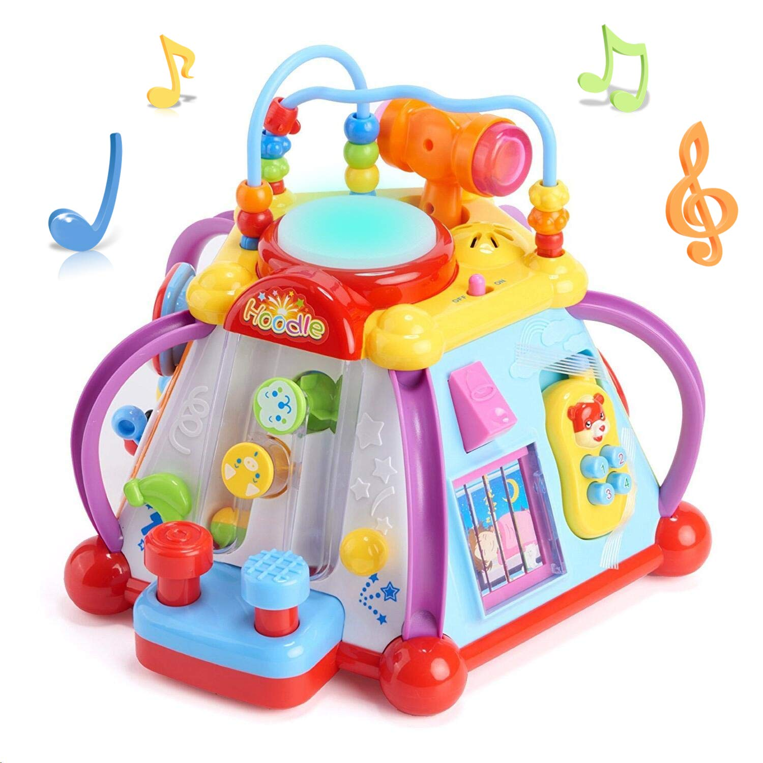 3baed5b64a4 Amazon.com: Woby Musical Activity Cube Toy Development Educational Game Play  Learning Center Toy for 1 Year Old Baby Toddler Boy and Girl: Toys & Games