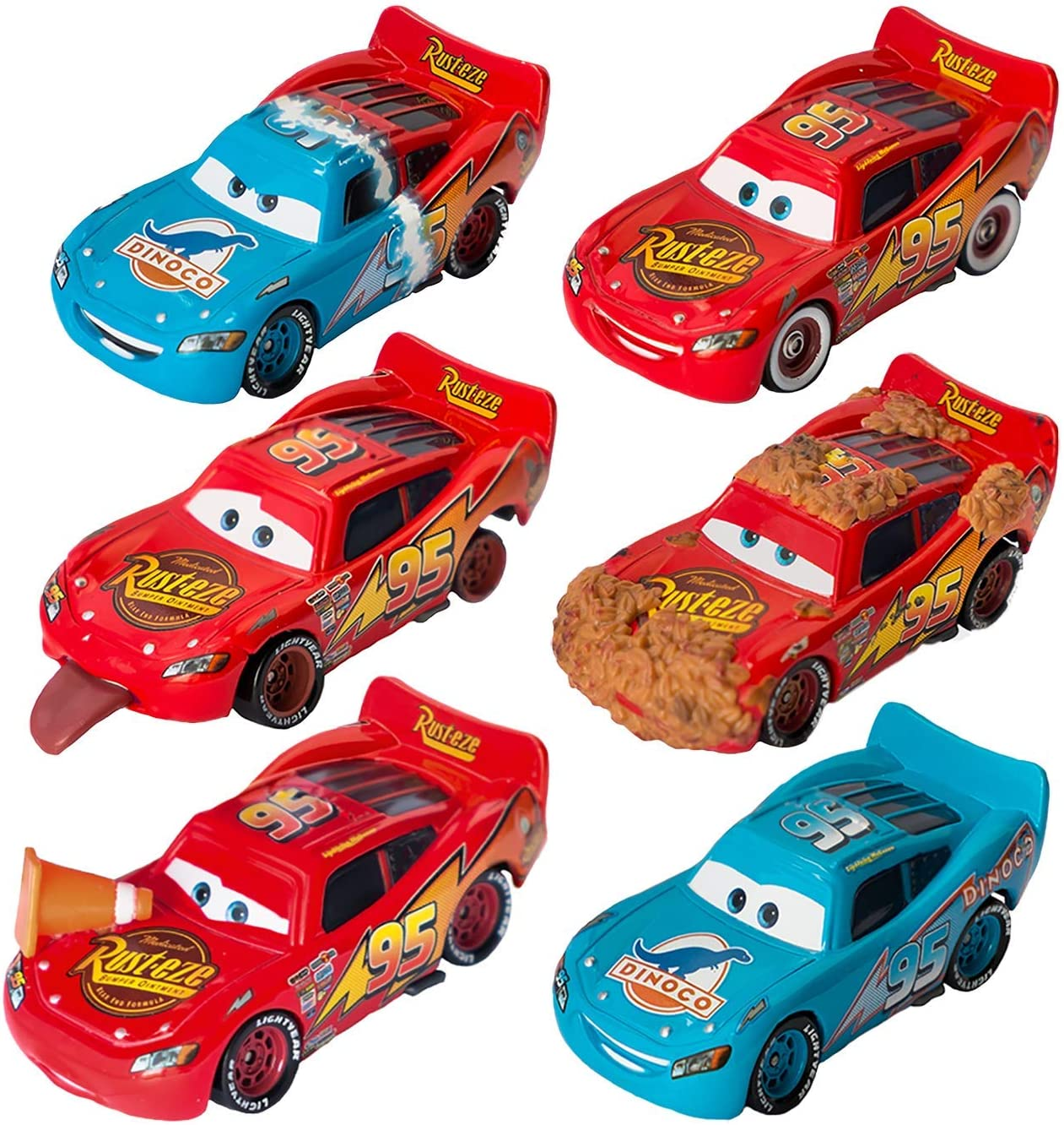 Disney/Pixar Cars Lightning McQueen Diecast Memorable Moments Collection (6 Pack)
