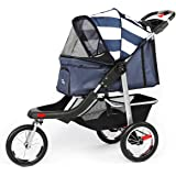 LAZY BUDDY Dog Stroller for Cats/Dogs and More,3-Wheels Foldable Travelling Cat Carrier, Lightweight Pet Stroller with…