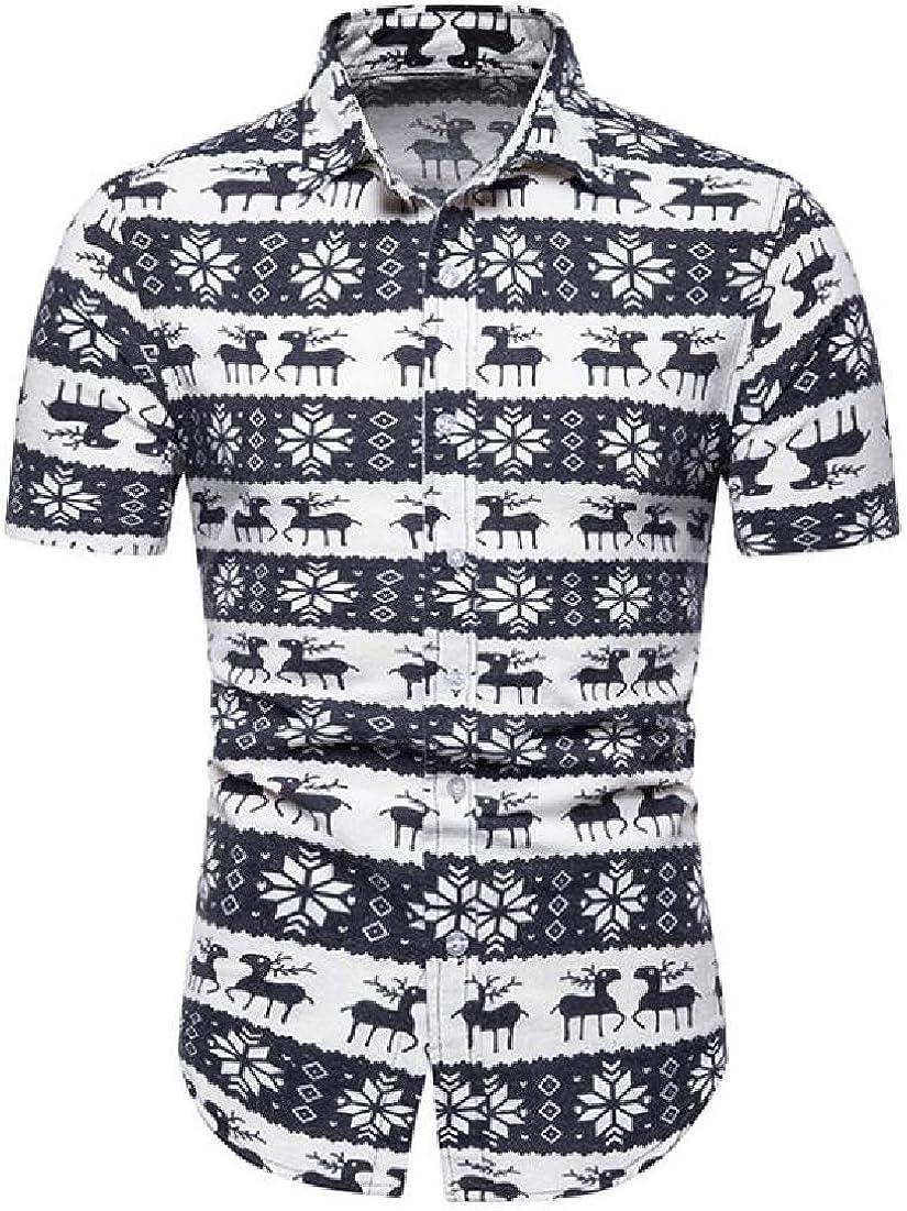 Camisa de Franela BYWX para Hombre, Manga Corta, Informal, impresión Africana, con Botones - - X-Large: Amazon.es: Ropa y accesorios