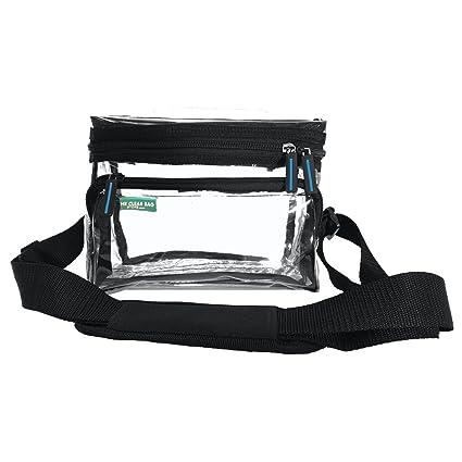 16f1daeef193 Small Heavy Duty Clear Lunch Bag Black Trim