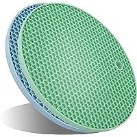 UXUNNY FDA Silicone Pot Holders, Kitchen Heat Resistant Trivets - Honeycomb Coasters & Nonslip Jar Openers, Hot Pot Pads…