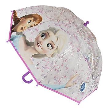 Cerdá Paraguas infantil con diseño de Disney Frozen Anna y Elsa Snowflake, 45 cm de