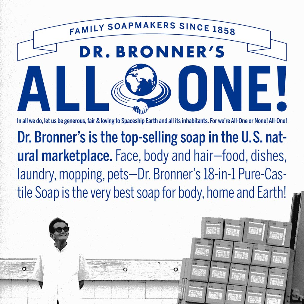 Dr. Bronner's - Pure-Castile Liquid Soap (Baby Unscented, 32 Ounce)