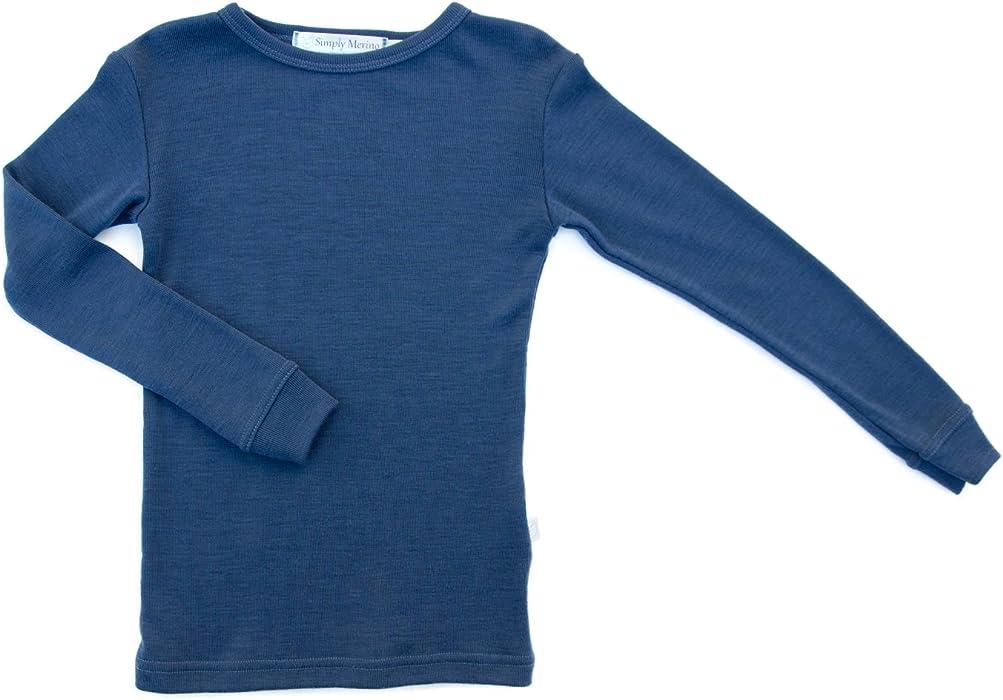 7cd355930 Amazon.com  Pure Merino Wool Kids Thermal Top. Base Layer Underwear ...