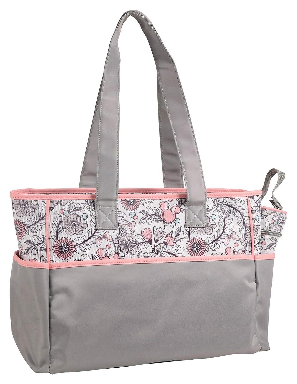 Wickeltasche im Messenger-Stil in grau//rosa Disney Minnie Mouse 4 tlg