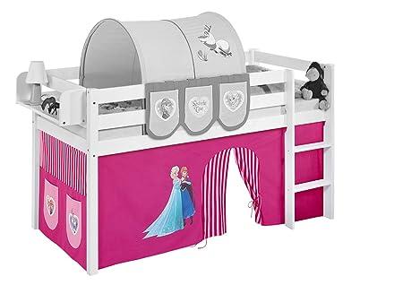 Etagenbett Vorhang Cars : Lilokids vorhang eiskönigin rosa für hochbett spielbett und