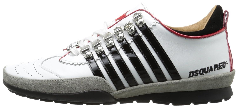 Dsquared2 Dsquared zapatos zapatillas de deporte hombres en piel nuevo blanco EU 44 W13 SN101 V065 M063: Amazon.es: Zapatos y complementos