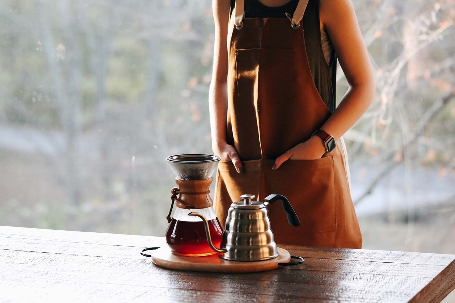TITANIUM COATED GOLD Pour Over Coffee Filter - Reusable Stainless Steel Drip Cone for Chemex, Hario V60, Carafes and Other Coffee Makers by Barista Warrior (Image #5)