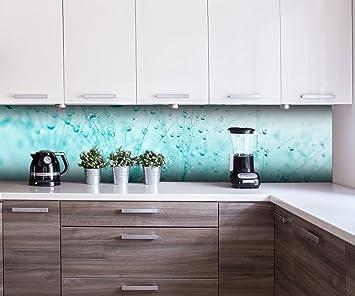 Küchenrückwand Pusteblume Türkis Nischenrückwand Spritzschutz Design ...