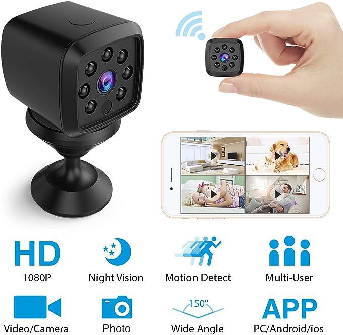 128GB Weltweit Zugriff Full HD Knopf Kamera Mini Wlan Handy Live App Tablet A300