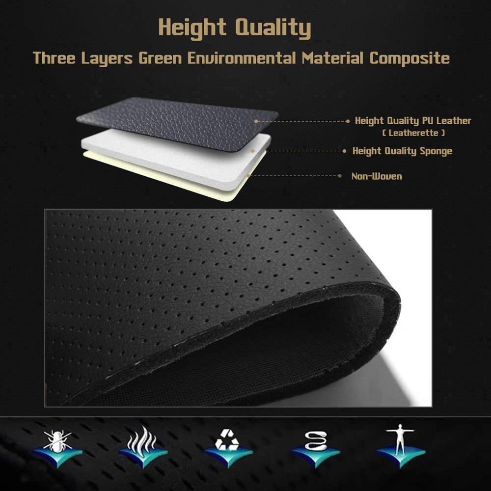 Autodecorun Leatherette Custom Exact Fit Seat Covers For Fiat Stilo Airbag Wiring Diagram Punto Bravo Linea Freemont Pu Leather Car Cover All 5 Seats Cushion Protectors Compatible Beige X Coffee Automotive