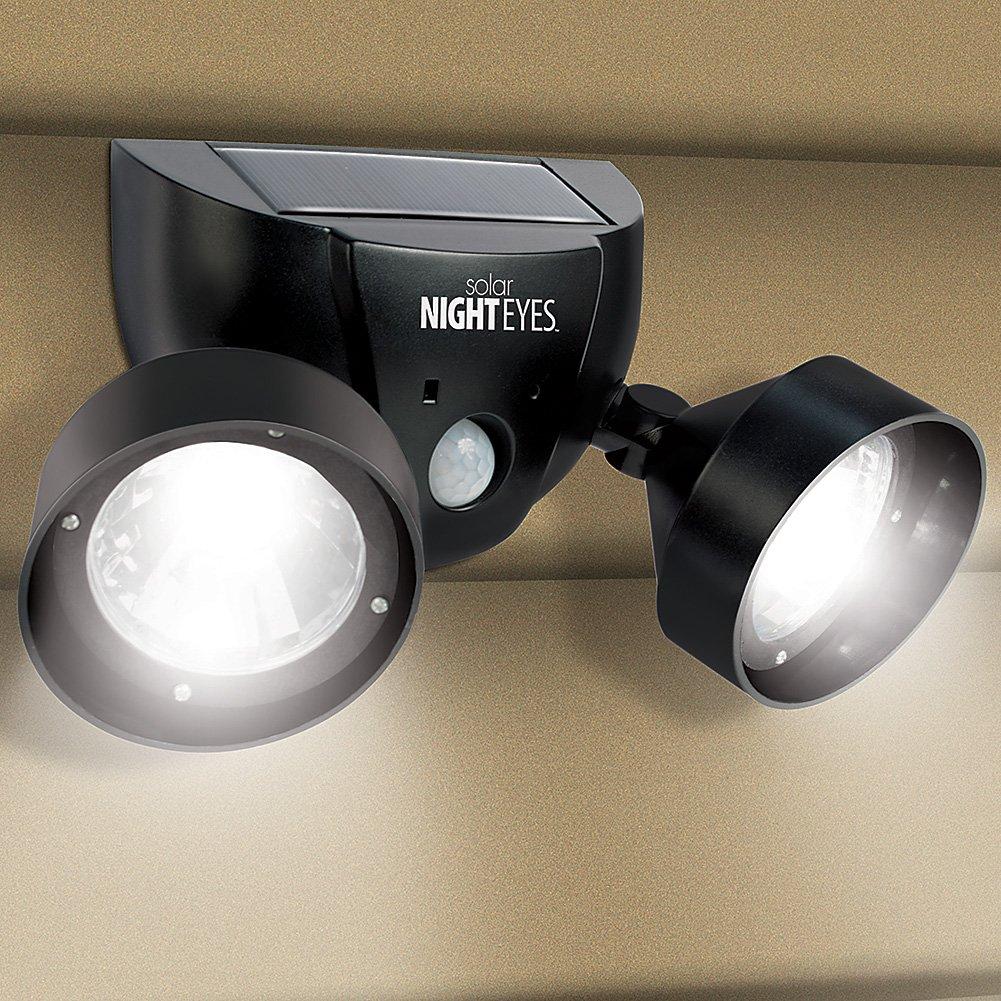 Solar night eyes dual function motion activated outdoor spotlights w solar night eyes dual function motion activated outdoor spotlights w alarm amazon aloadofball Choice Image