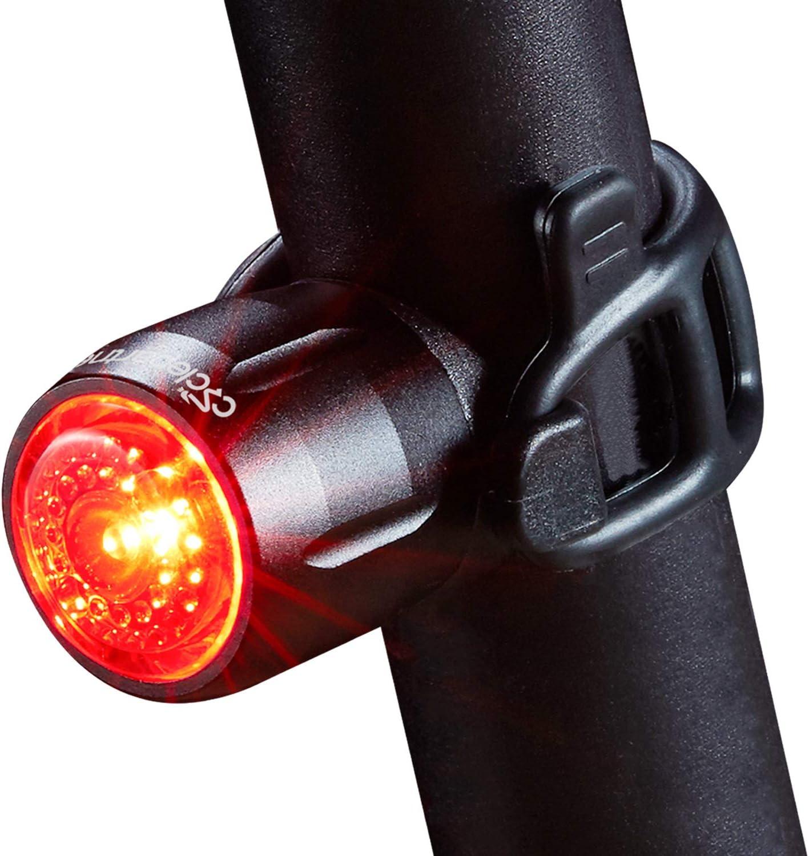 CYCLEPARTNER Garnet-15 Universal Bike Tail Light for All Handlebars Bicycle Taillight Rear Light for Helmet Flash Warning Light Safety Light USB Rechargeable IP65 Waterproof