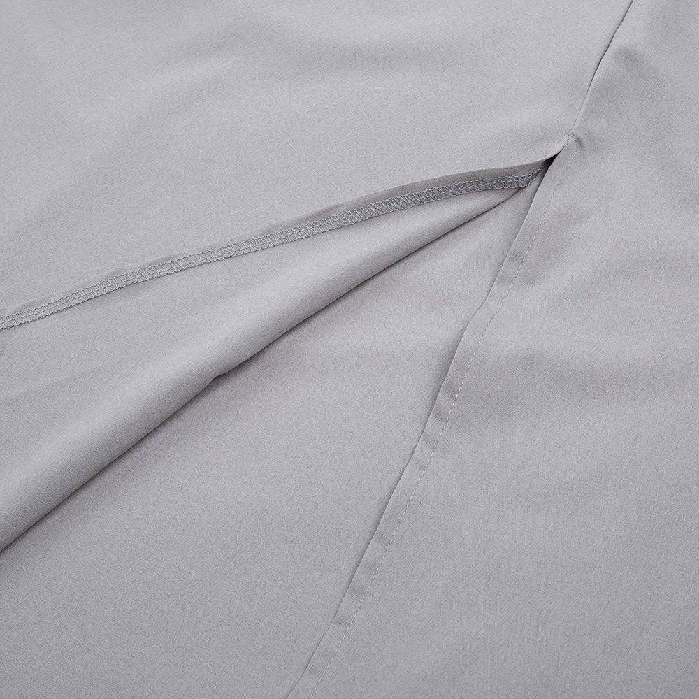 XILALU Women High Waist Pleated A Line Long Skirt Front Slit Belted Maxi Skirt S-XXL