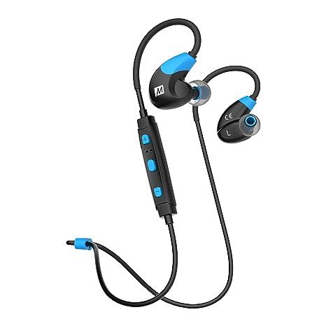 adc576c79e1 Amazon.com: MEE audio X7 Stereo Bluetooth Wireless Sports in-Ear Headphones  Blue (EP-X7-BLBK-MEE): Electronics