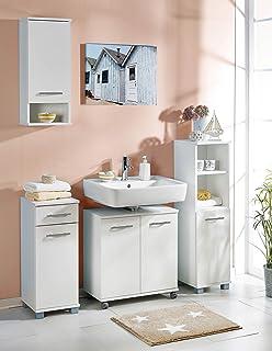 Küche Brombeerfarben | Highboard Sideboard Kinderzimmer 820466 3 366 Weiss Brombeerfarben