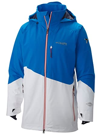 Columbia Mens Shreddin Jacket, Hyper Blue/White, ...
