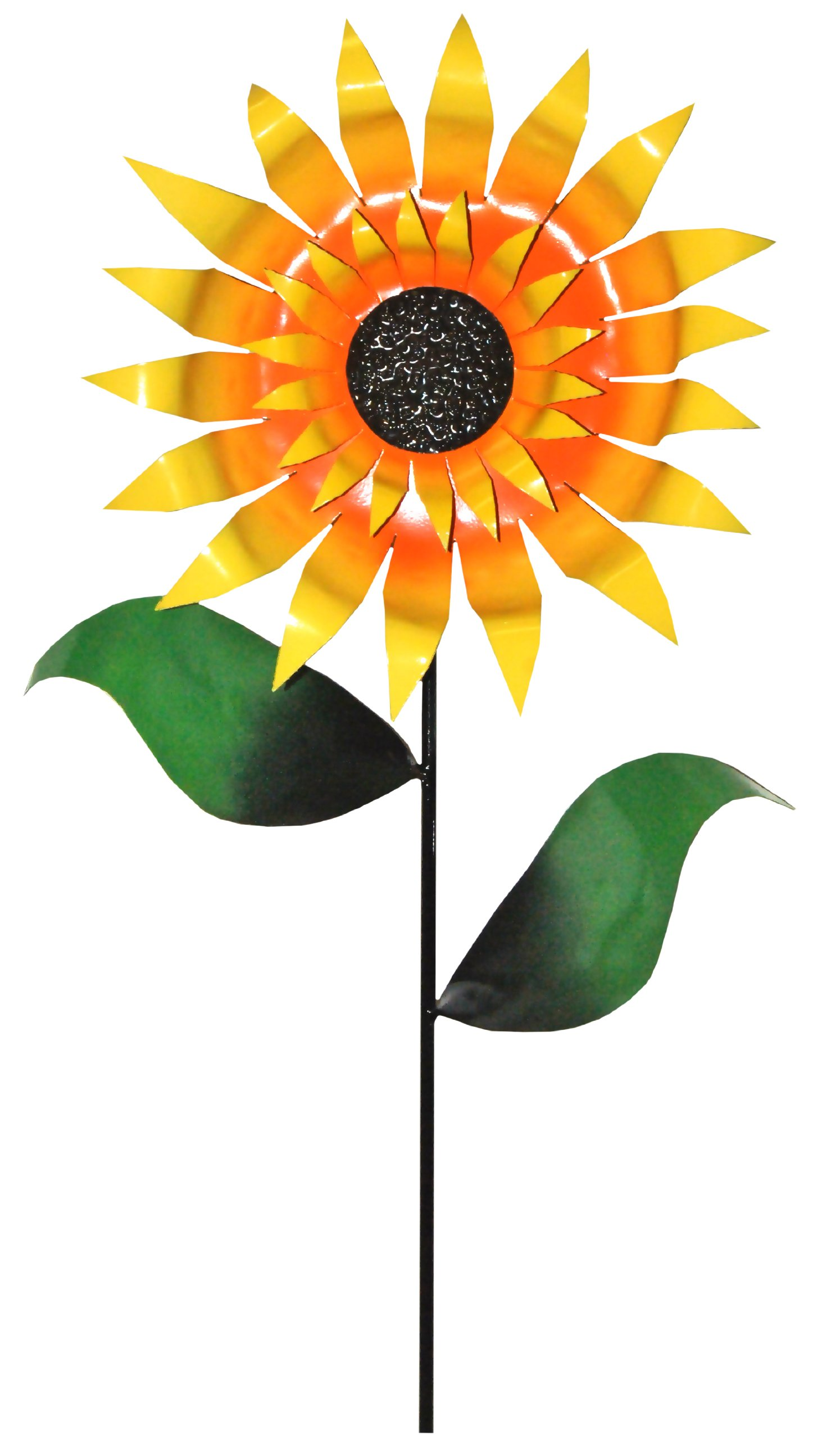 Steven Cooper Metalsmith AFLWR-01-L Artificial Garden Flower on Footed Stake, 5-Feet , Yellow