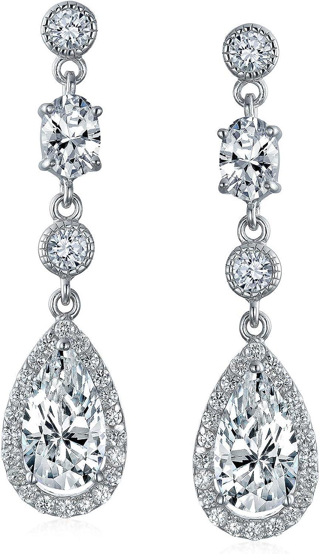 Black Chandelier Earrings Bridal Drop Earrings 4.2 Inch Pageant Jewelry Bridesmaid Rhinestone Earrings