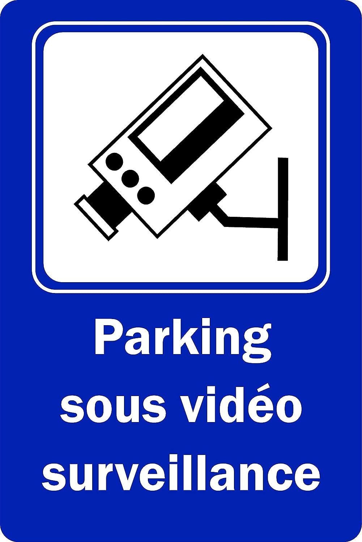 Plaque Aluminium 3mm 200mm x 150mm Panneau Parking sous Vid/éo Surveillance