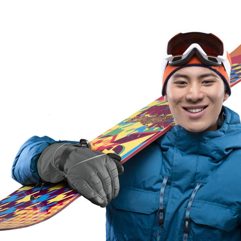 Snowboard Arrampicata Unigear Guanti da Sci Impermeabili Termico Anti-Scivolo Termico Anti-Scivolo Guanti in Pelle per Sci Ciclismo