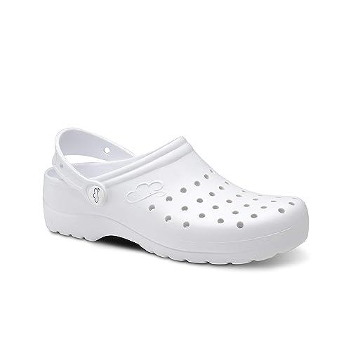 a0f3fdc4c45 Feliz Caminar - Zueco Sanitario Flotantes Gruyere: Amazon.es: Zapatos y  complementos