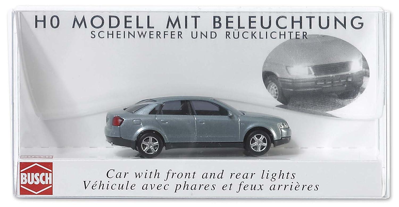 Busch 5651 - Reproducción en miniatura de Audi A4 HO con luces delanteras y traseras [Importado de Alemania]