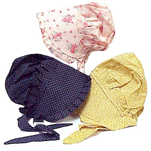 Vintage Inspired Halloween Costumes Bonnet Large Made from 100% Cotton Colors May Vary $11.99 AT vintagedancer.com