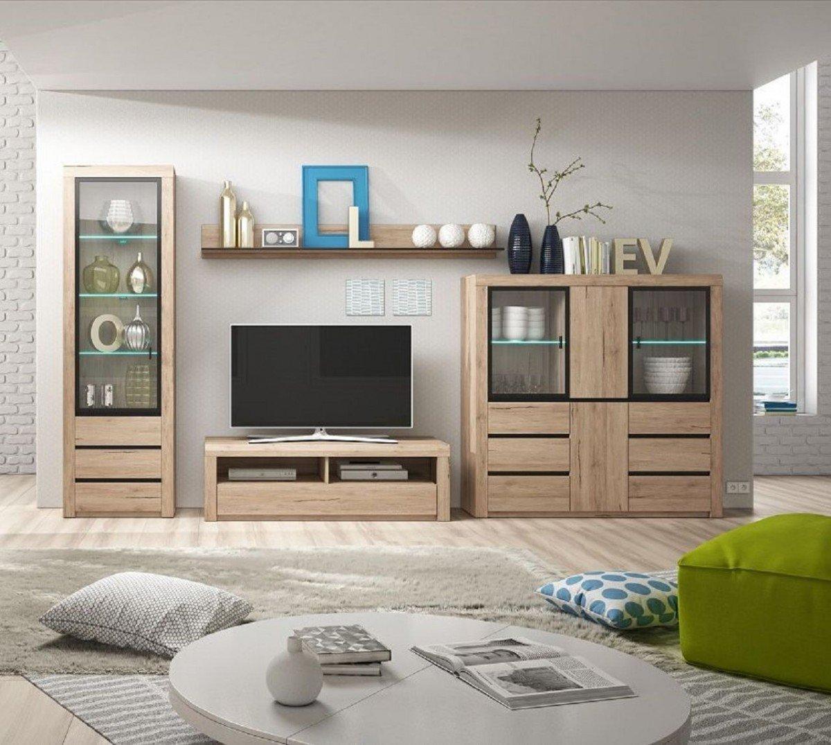 Hervorragend Dreams4Home Wohnzimmer Set U0027Marsiu0027   Set, Vitrinenschrank B/H/T: