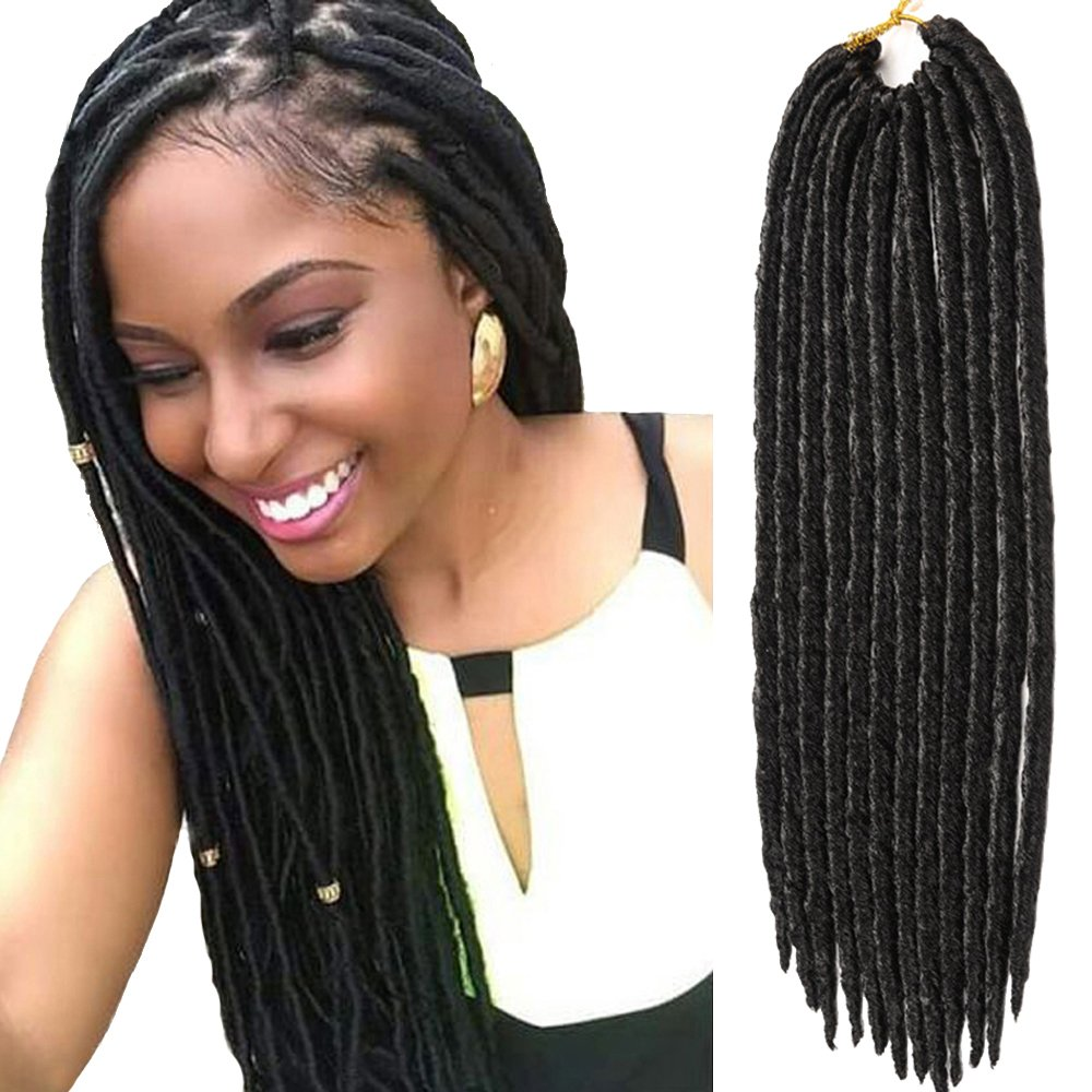Amazon Vrhot 6packs Faux Locs Crochet Hair Braids Synthetic