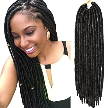 Amazon Vrhot 6packs Faux Locs Crochet Hair Braids Synthetic