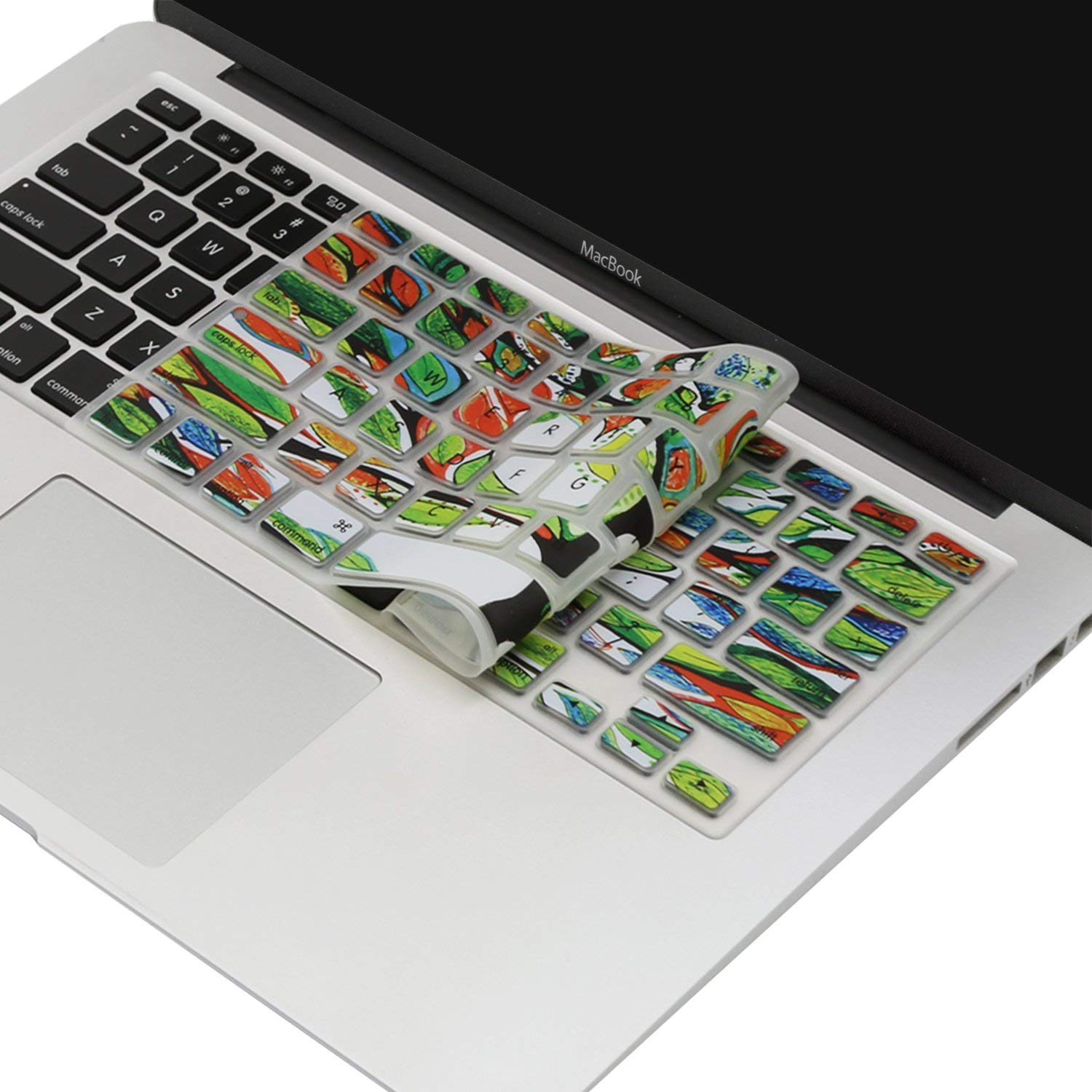 ,Rainbow II with//Without Retina Display,2015 or Older Version MOSISO Keyboard Cover with Pattern Compatible 13//15 Inch A1466//A1369, Release 2010-2017 Older MacBook Air 13 Inch
