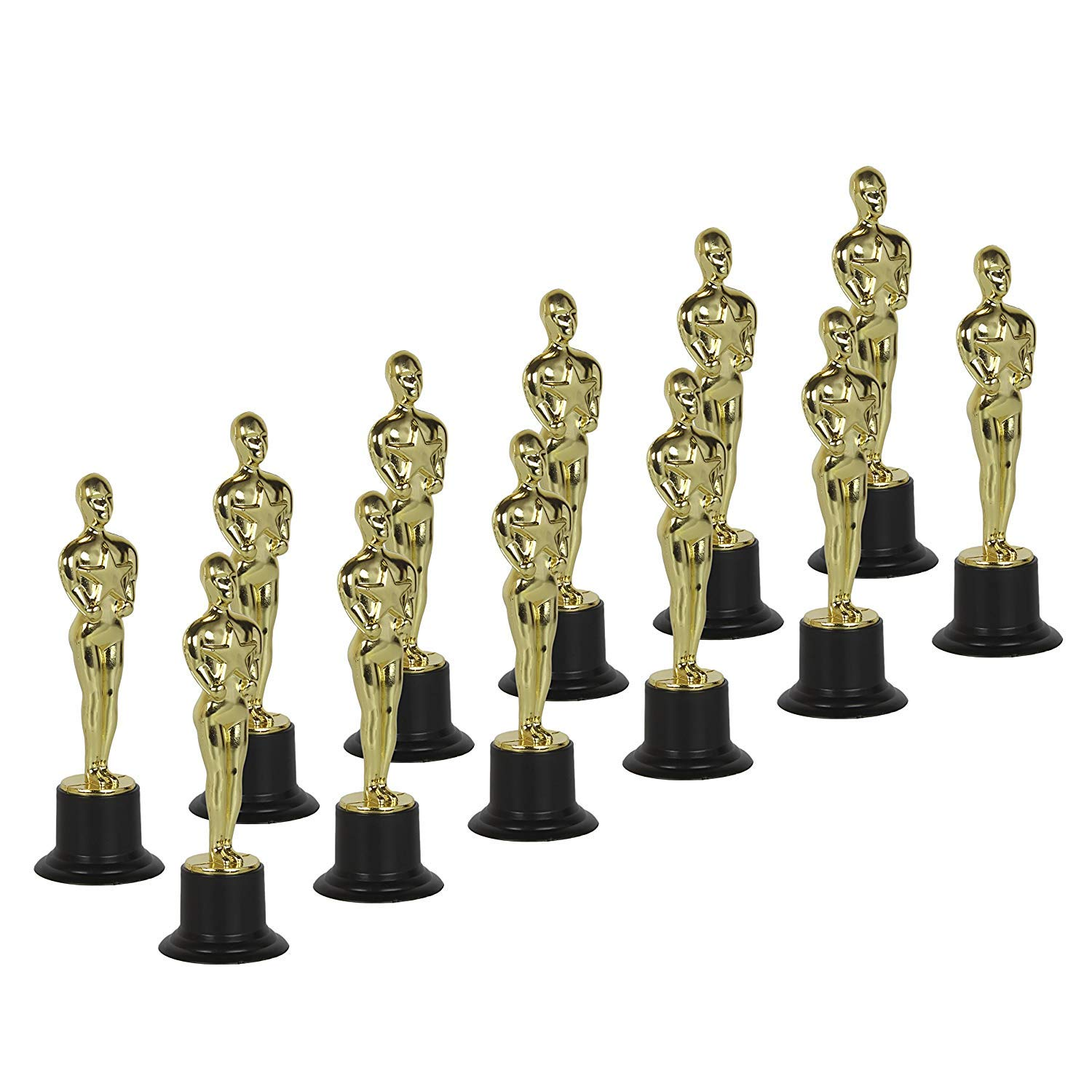 Blue Green Novelty Gold Award Trophies 6'' Trophy Statues, Academy Awards, Custom Trophies (Set of 12)